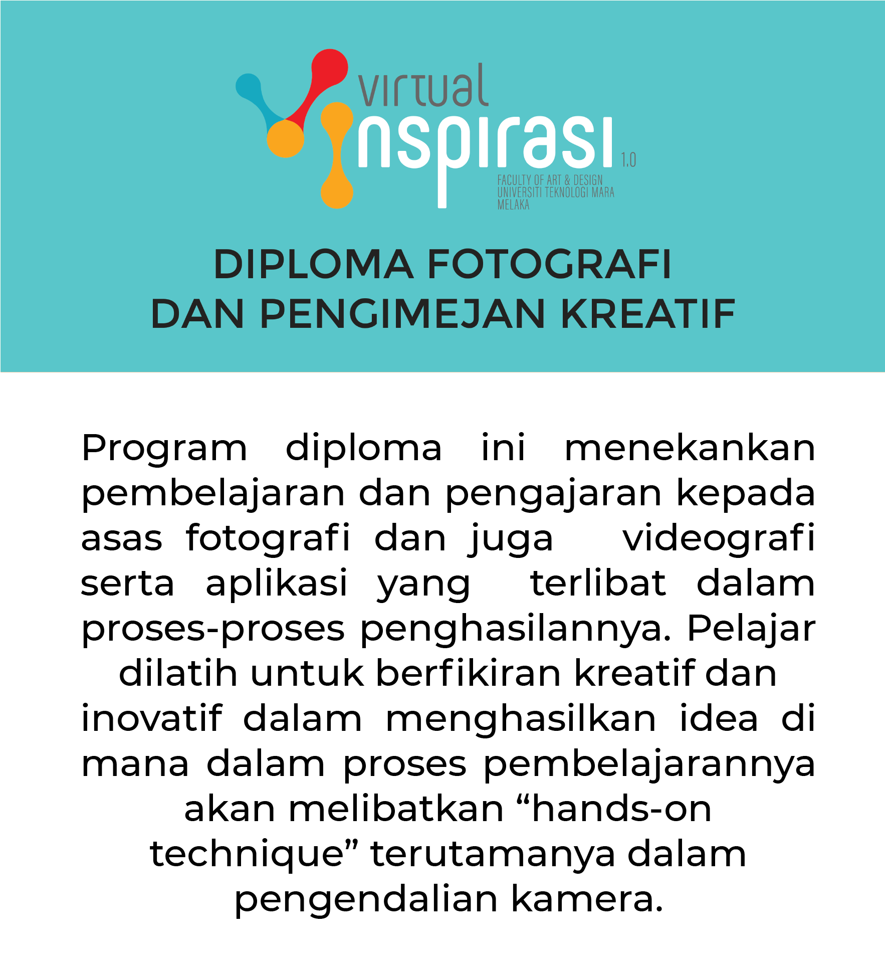 DIPLOMA IN PHOTOGRAPHY AND CREATIVE IMAGING